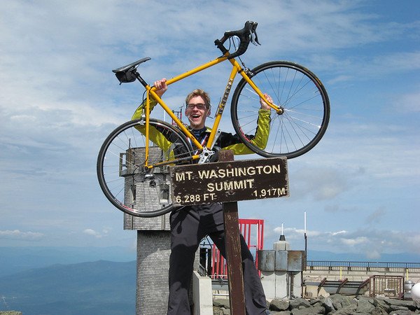 Mt. Washington victory pose