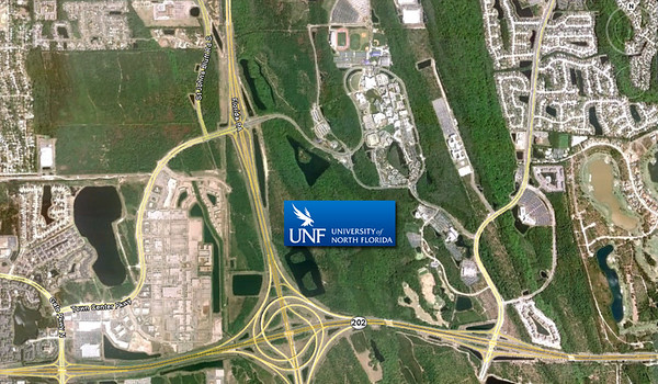 image relating to Unf Printable Map identified as Suburban Jacksonville: College or university of North Florida Metro