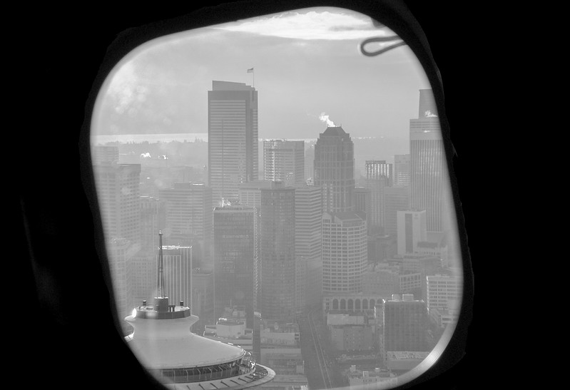 Seaplane Flight Over Downtown Seattle