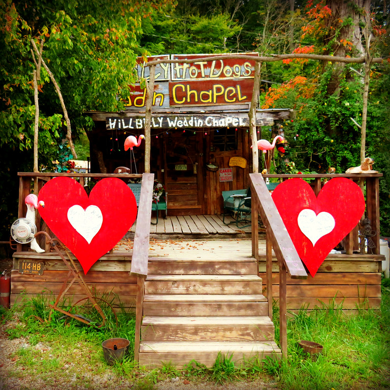 hillbilly hotdogs wedding chapel