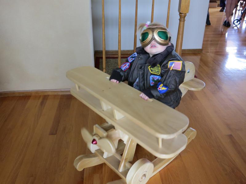 Dick made this plane at the USAFA wood shop.