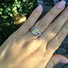 2.18ct Radiant Cut Diamond and Pink sapphire 3-Stone Ring by DBL GIA W-X, VS2 12
