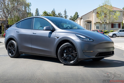 Model Y - XPEL Stealth with Red Emblems