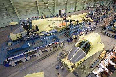 Su-34 production line