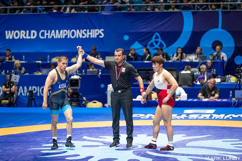Champ. Round 1: Tyler Lee Graff (United States) over Jincheol Kim (Korea)  •  TF 10-0 - 2019 World Championships