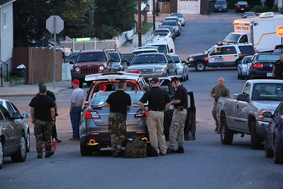 Police Presence, East Bertsch Street, Lansford (6-24-2013)