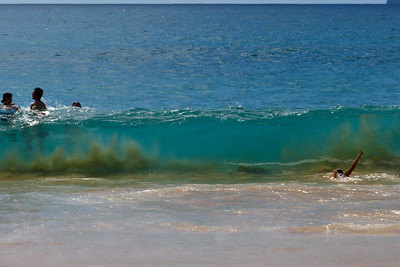 Riding a Wave December 2013, Cynthia Meyer, Maui, Hawaii