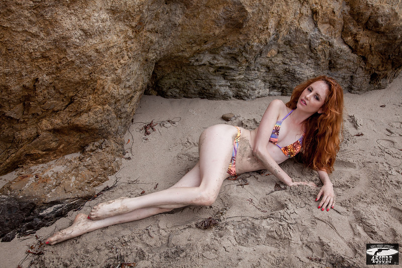 PRETTY Ginger Redhead Bikini Model! Canon 5D Photos of Beautiful Redhead Swimsuit Model! Pretty Blue Eyes!