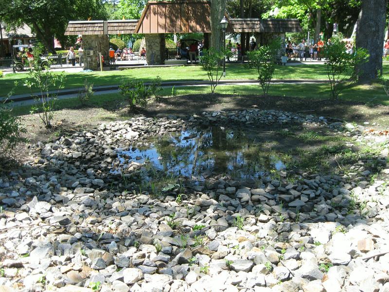 Detention pond adjacent to Antique Cars.