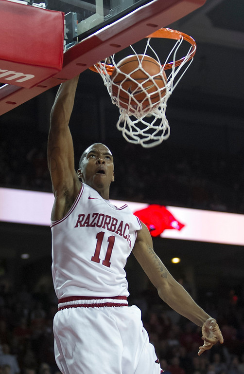 . <b>B.J. Young</b> <br />Guard, 6-3, 180. Averaged 15.2 points, 3.5 rebounds and 3.4 assists as a sophomore last year at Arkansas. Lightning quick and explosive, but might not have the skills and maturity to play point guard and might be too small to play shooting guard. (AP Photo/Gareth Patterson)