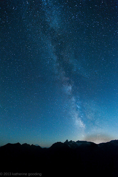 20130910 Mt. Rainier Sunrise Point Milky Way