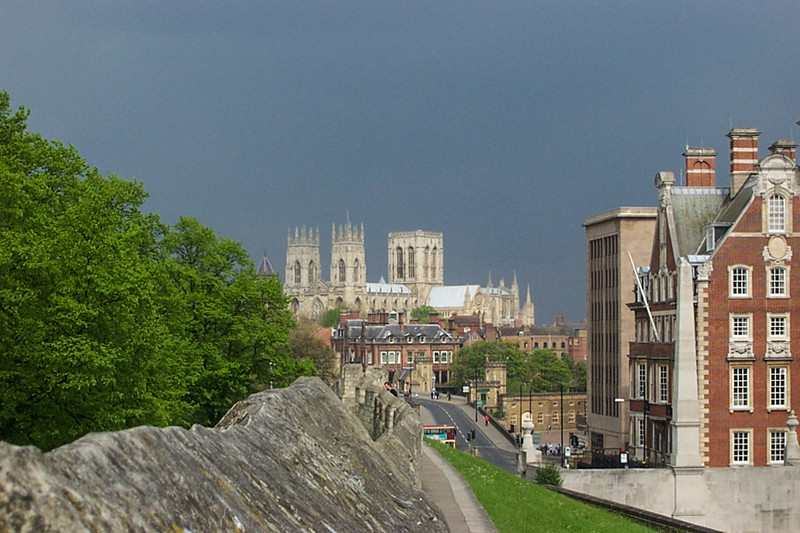 York Minster - View from the walls of York