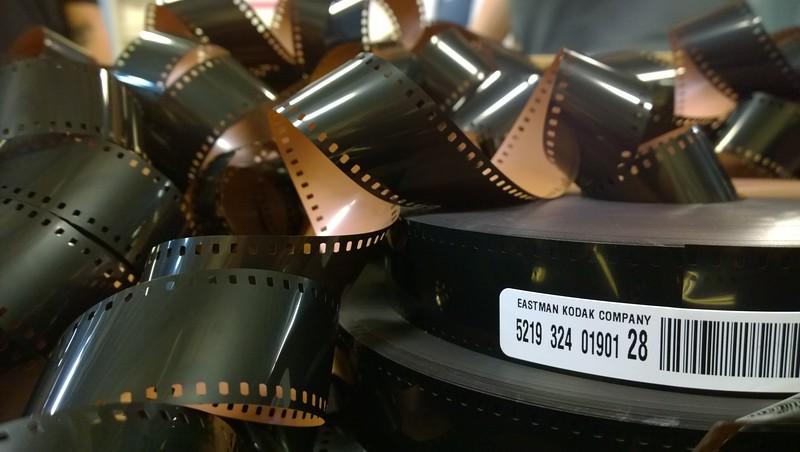Discarded acetate film