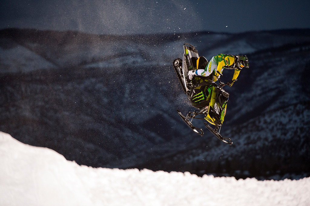. Joe Parsons #700 competes during his first run in the snowmobile freestyle at Winter X Games 2016 Aspen at Buttermilk Mountain on January 29, 2016, in Aspen, Colorado. Parsons won the gold medal in the event. (Photo by Daniel Petty/The Denver Post)