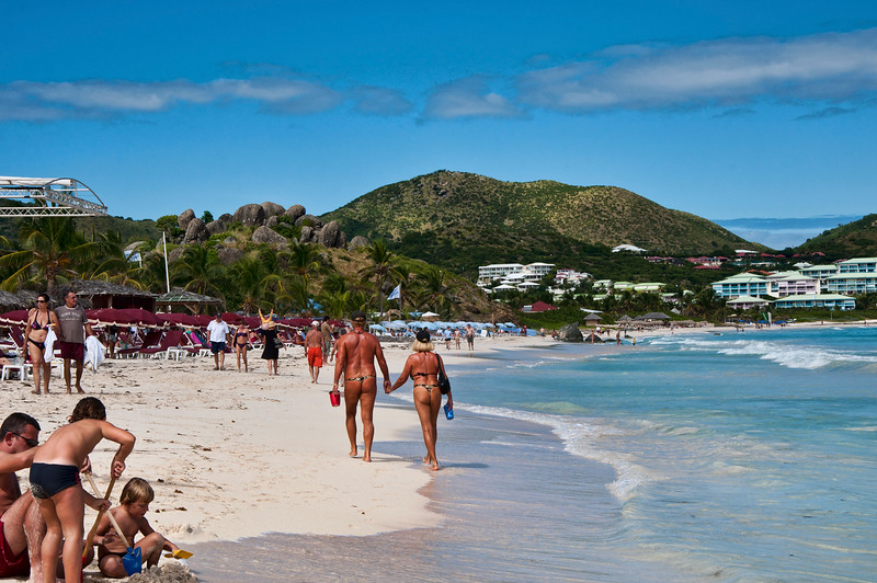 Our tour continued to Orient Bay where part of the beach is clothing optional.