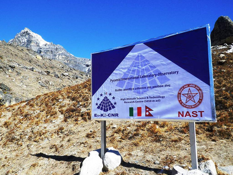 Pyramid - Italian Research Center at 16,306ft or 4.970m.