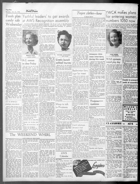 Daily Trojan, Vol. 37, No. 53, January 21, 1946