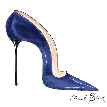10.17.13 Manolo Shoe Illustration