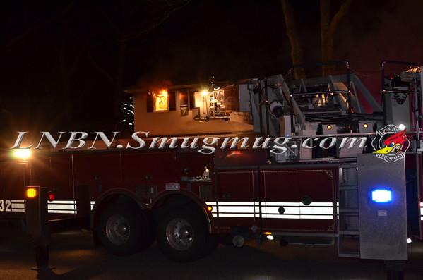 Massapequa F.D. Working House Fire 97 Van Buren St. 2-20-13