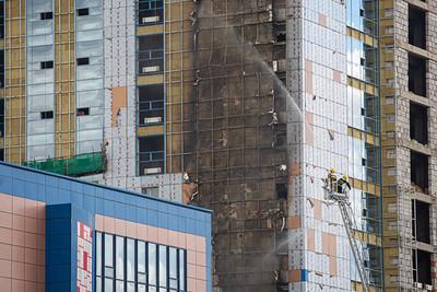 """""""Их наяд"""" плазагийн өргөтгөлийн барилгын гадна фасадын хэсэгт гал гарчээ"""