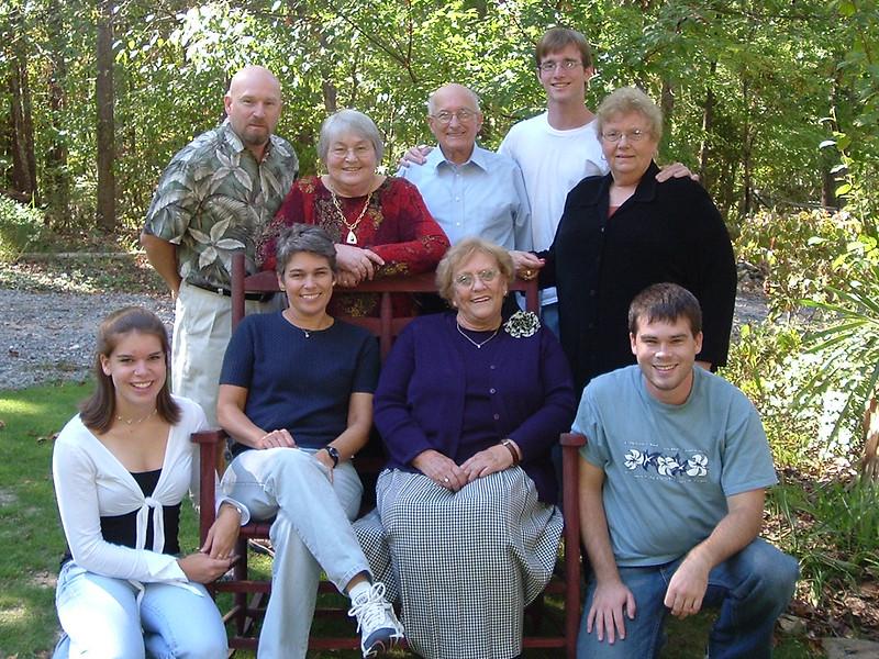 Standing: Rob, Mom & Dad, Daniel and Jane Sitting: Rynnie, Marsha, Pat and Noah