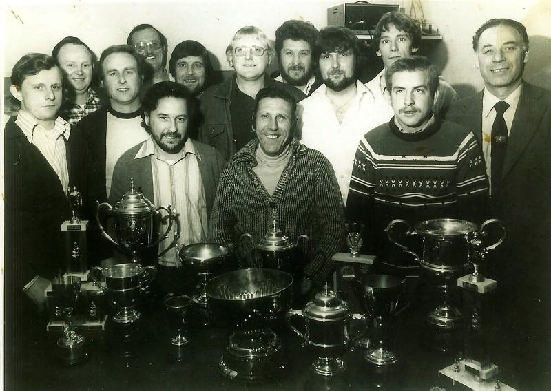 British Legion darts team and trophies 1970`s