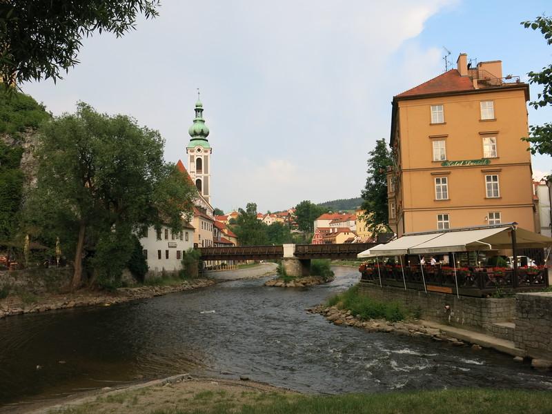View on the river Vltava @ Cesky Krumlov