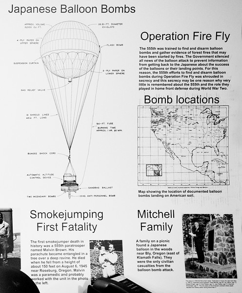 About the Balloon bomb attacks during WW-II.   (See: http://www.uh.edu/engines/epi1091.htm )
