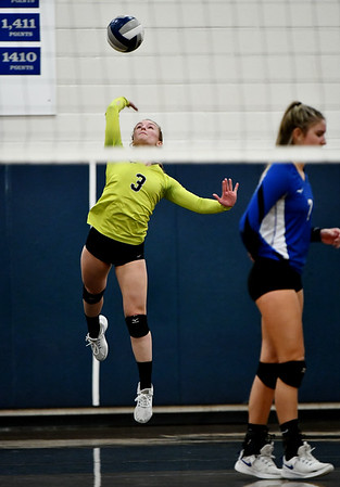 11/16/2019 Mike Orazzi | StaffrBristol Easterns Rebecca Bender (3) during the 2019 State Girls Volleyball Tournament Class L Quarterfinals at BEHS in Bristol Saturday. r