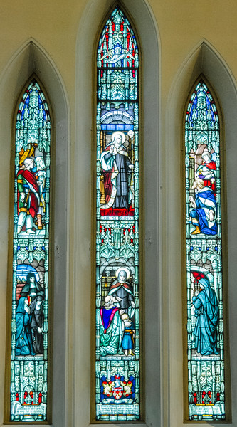 St Hilda of Whitby (614-680) <br> glass by N.T. Lyon, Toronto