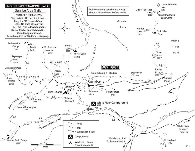 Mount Rainier National Park (Trails - Sunset Area)