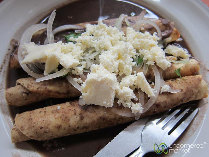 Enfrijoladas - Oaxaca, Mexico