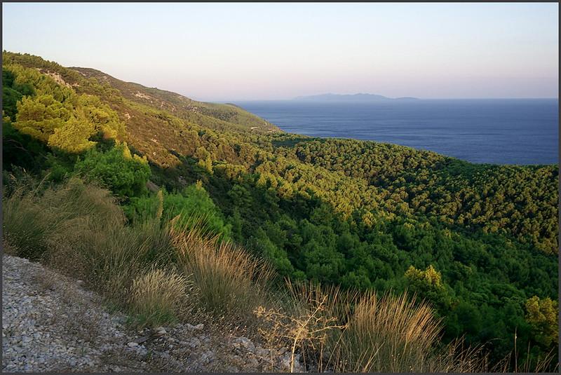 Pohled na východ a na ostrov Mljet
