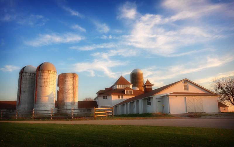 Farmhouse at Sunset II