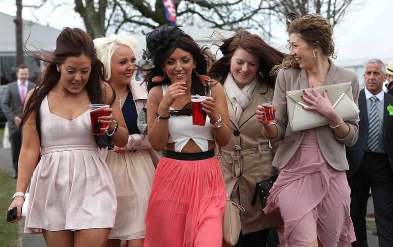 . Racegoers enjoy Ladies Day at Aintree on April 5, 2013 in Liverpool, England.  (Photo by Danny E. Martindale/Getty Images)