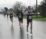 2003 Bazan Bay 5K - Rumon Carter being chased down by Todd Healy