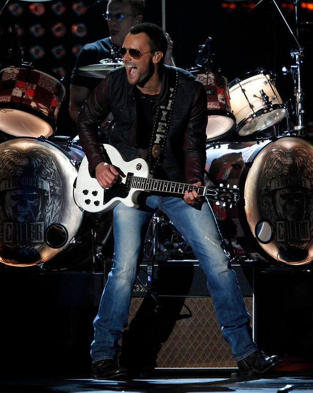 . Eric Church performs at the 47th annual CMA Awards at Bridgestone Arena on Wednesday, Nov. 6, 2013, in Nashville, Tenn. (Photo by Wade Payne/Invision/AP)