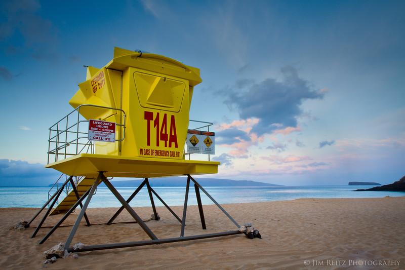 Nope, not an alien spacecraft - it's a lifeguard station at Big Beach, Maui