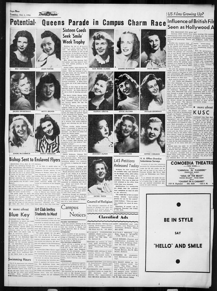 Daily Trojan, Vol. 38, No. 12, October 01, 1946