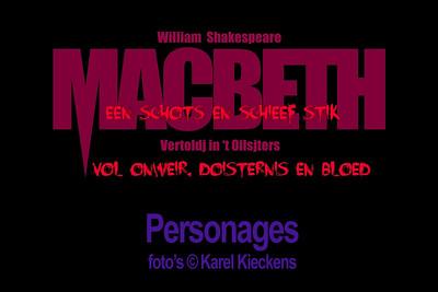 MACBETH - Personages