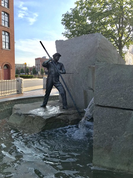 """The Worker"" monument ~ Lowell, MA"