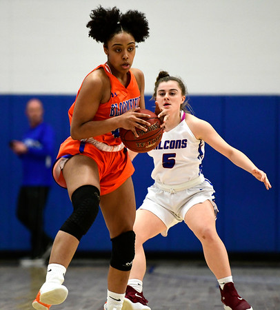 3/5/2019 Mike Orazzi | Staff Bloomfield's Leigh Ann LaBad (40) during the Class S Quarterfinals Girls Basketball Game with St. Paul Tuesday night.