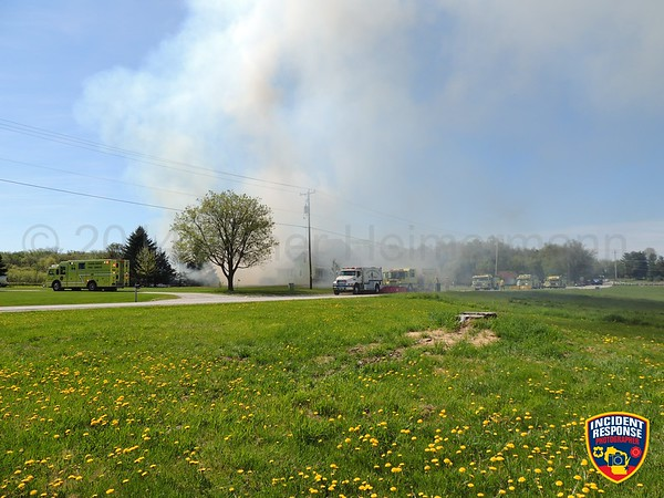 Barn fire on May 24, 2014