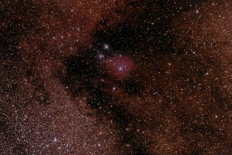 IC1283-1284 - Gum 78 Nebula in Sagittarius - 28/6/2014 (Processed stack)