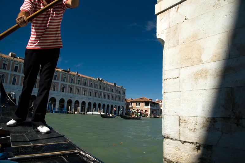 Gondolier, Canal Grande, Venice, Italy