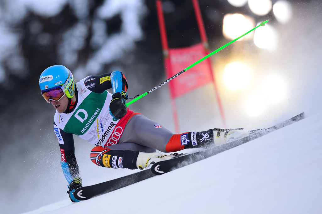 . US Ted Ligety skis in the first run of Men\'s Giant slalom at the 2013 Ski World Championships in Schladming, Austria on February 15, 2013.   OLIVIER MORIN/AFP/Getty Images