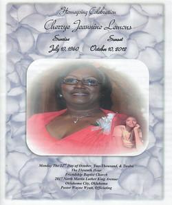Homegoing Celebration Cherrye Jeannine Lemons Oct 19, 2012