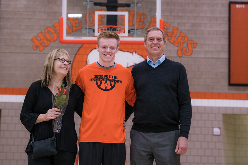 2018 Boys Basketball Parent Night Pictures