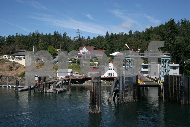 The ferry terminal at Orcas on Orcas Island.