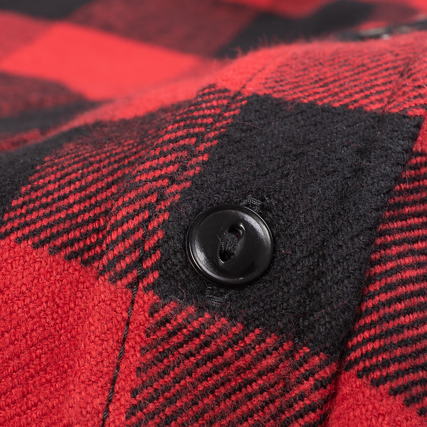Ultra Heavy Flannel Buffalo Check Work Shirt - Red-Black-25529.jpg